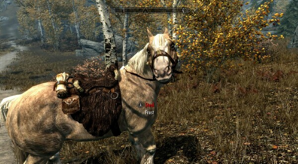 Skyrim: The Real Enemy Is Horses: Marley takes a horse