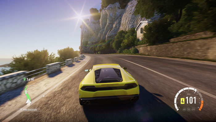 Beau Like All Forza Games, Forza Horizon 2 Has A Dynamically Color Coded Line  That Tells You Where To Drive And When To Brake. If I Turn The Line Off, ...