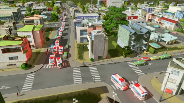 Cities_Skylines_ambulances