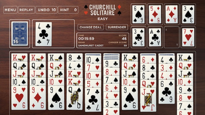 churchill solitaire card game instructions
