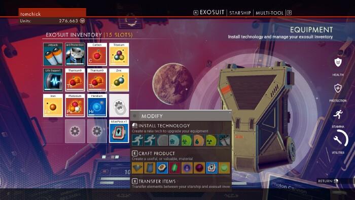 Landmark inventory slots