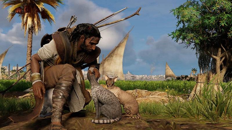 Assassins Creed Origins How To Pet Cats