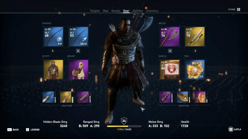 Assassin S Creed Origins Is Also Its Destiny Quarter To Three