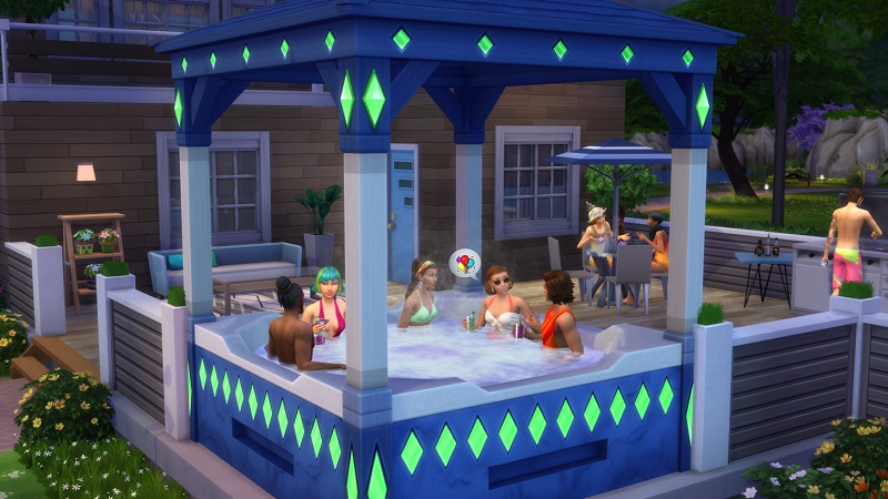 After 20 years of The Sims gibbering, everyone gets a hot tub