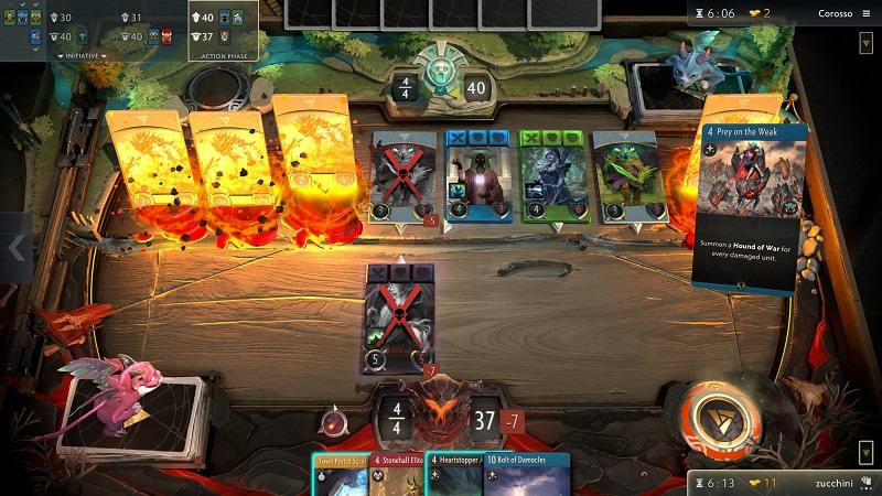 The next version of Artifact won't have the most common part of collectible card games
