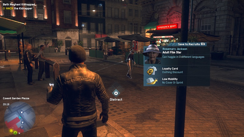 One of the people in Watch Dogs: Legion is going away ironically thanks to social media
